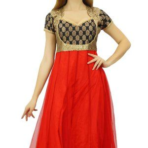 Dresses & Skirts - Authentic Red Gold PARTY Indian Dress Size XL NWOT